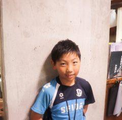 キッズカット サッカー少年 AFTER